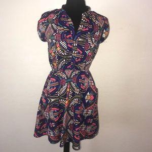 Women's bright color dress